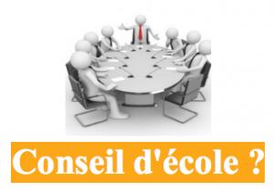 CONSEIL D'ÉCOLE